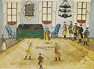 Fechtübungen - Stammbuch Hempel 1773
