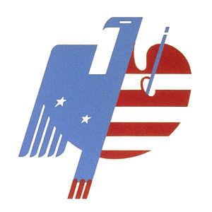 Federal Art Project - Eagle and palette design regarded as the logo of the Federal Art Project