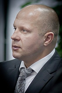 Fedor Emelianenko Russian sambist, judoka, kickboxer and MMA fighter