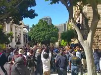 File:FeesMustFall protest outside Parliament - 21 October 2015.ogv