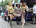 Female Visitor Photoed with Promotional Models in ATT 4 YOU Plaza 20160430.jpg