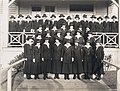 Female yeomen in front of building at the US Naval Training Station, University of Washington, 1917-1918 (MOHAI 4395).jpg