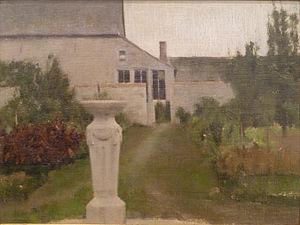 "Fernand Khnopff - ""The Garden"" (1886)"