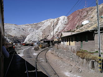 La Oroya - Image: Ferrocarril Central Andino 7 La Oroya