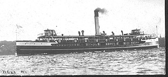 SS Kate (tug) - The Manly ferry Bellubera which struck and sunk the SS Kate off Dobroyd Head