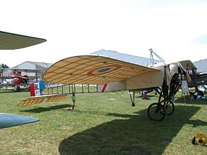 History of the Armée de l'Air (1909–42) - Restored Blériot XI in Aéronautique Militaire markings.