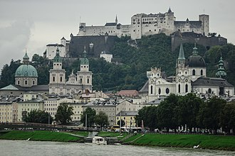 Ministerialis - The fortress of Hohensalzburg, overlooking Salzburg, Austria, was run by a ministerial castellan