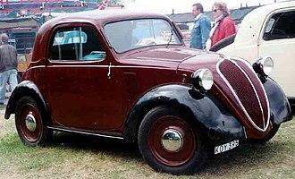 """Fiat 500 """"Topolino"""" - Image: Fiat 500A Standard Coupe 1939"""