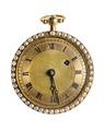 Fickur av guld med emalj och orientaliska pärlor, 1800 - Hallwylska museet - 110404.tif