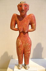 Female figurine from Tell Fekheriye (c. 9000–7000 BC)