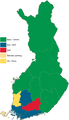 Finnish parliamentary election, 2015 results by constituency.png