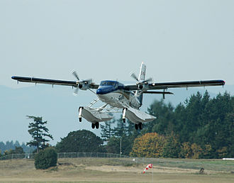 De Havilland Canada DHC-6 Twin Otter - First flight of the Series 400 technical demonstrator by Viking Air at Victoria Airport, October 1, 2008
