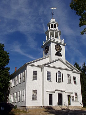 First Parish Church, construite en 1809 par l'architecte Asher Benjamin