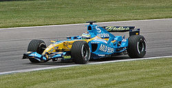 Fisichella (Renault) qualifying at USGP 2005.jpg