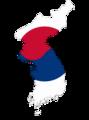 Flag map of Korea (South Korea).png