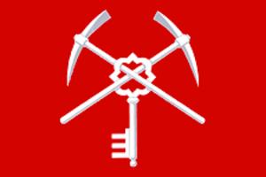 Shchyokino (town), Tula Oblast - Image: Flag of Schyekino (Tula oblast)