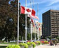 Flags at half mast for Jack Layton in Windsor Ontario.jpg