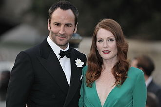 National Design Awards - Tom Ford (left), Fashion Design winner in 2002 with actress Julianne Moore.