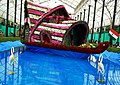 Floral Boat in Lalbagh Flower Show August 2013 Front view.JPG