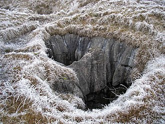 Pit cave - Image: Fluted pothole geograph.org.uk 116344