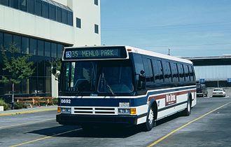 Flxible Metro - A Flxible Metro 40102-6C of Santa Clara County Transit (San Jose, California) in 1987