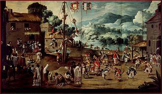 Danza de los Voladores - Mexican Indian wedding and voladores, ca. 1690