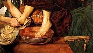 Français : Lavement des pieds de Saint Pierre ...