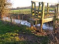 Footbridge over a dyke leading to the Lugg. - geograph.org.uk - 724432.jpg