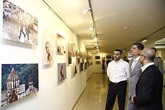 PanARMENIAN.Net - Former Prime Minister of Armenia Tigran Sargsyan at the PanARMENIAN Photo exhibition, June 2011