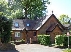 Former St Timothy's Church, Sandrock Hill Road, Boundstone, Farnham (May 2015) (2).JPG