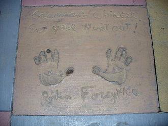 John Forsythe - The handprints of John Forsythe in front of The Great Movie Ride at Walt Disney World's Disney's Hollywood Studios theme park.