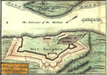 FortDaupinCapeBreton (inset) A new and accurate map of the English empire in North America, 1755.png
