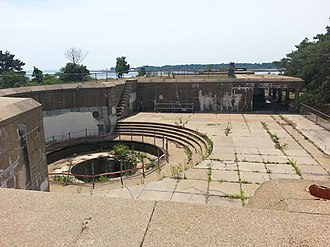 Harbor Defenses of Portsmouth - 12-inch (305 mm) disappearing gun emplacement, Fort Stark.