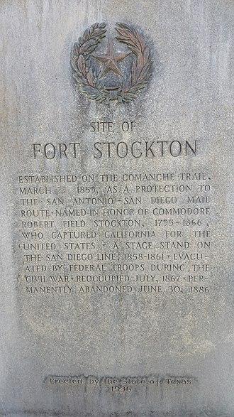 Comanche Springs (Texas) - Image: Fort Stockton Texas Historical Marker