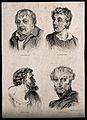 Four heads of men who each exhibit one of the four temperame Wellcome V0009461.jpg