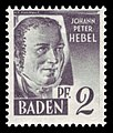 Fr. Zone Baden 1947 01 Johann Peter Hebel.jpg