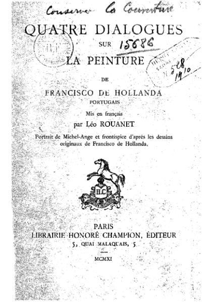 File:Francisco de Holanda - Quatre dialogues sur la peinture - 1548-1911.djvu