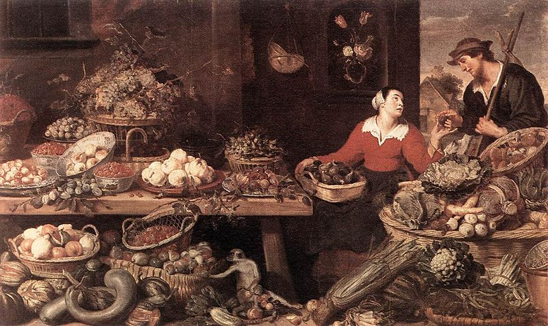 File:Frans Snyders - Fruit and Vegetable Stall - WGA21515.jpg