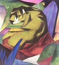 Tygrys - dzieło Franza Marca,1912