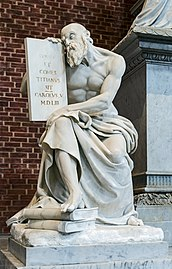 Frari (Venice) nave right - Monument of Titian - Carolus V.jpg