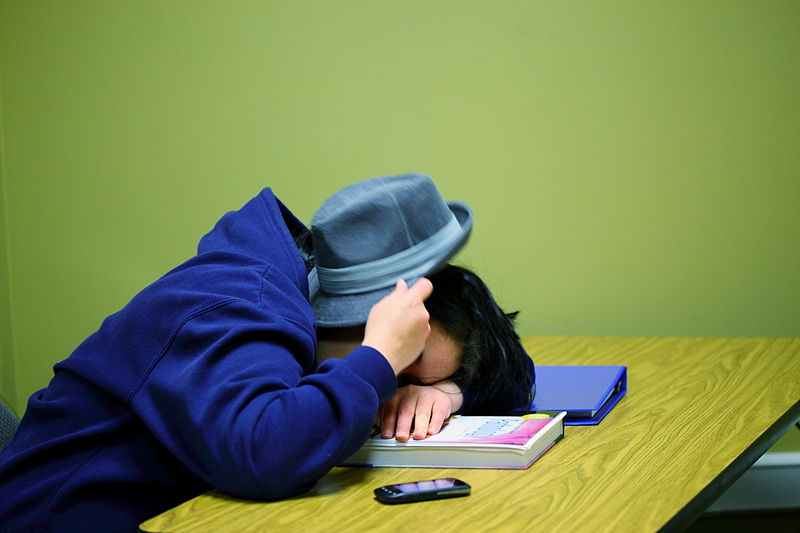 File:Free College Pathology Student Sleeping Creative Commons (6961676525).jpg
