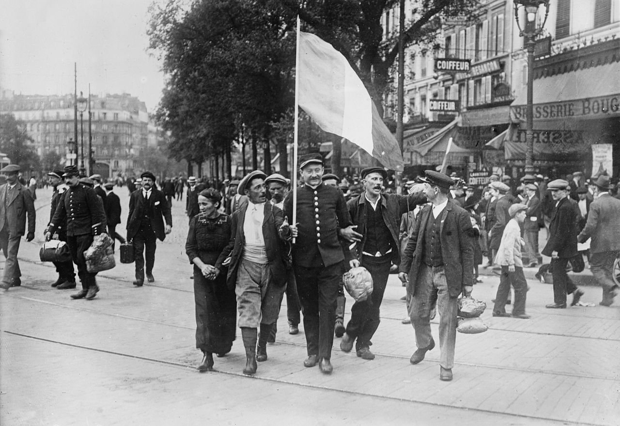 File French Reservists Going To R R Station In Paris Loc Jpg