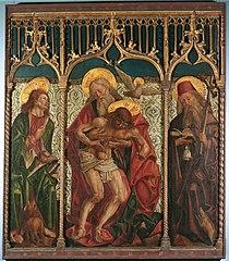 Hl. Dreifaltigkeit zwischen den hll. Markus und Antonius Eremita
