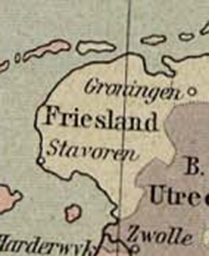 Lordship of Frisia - Friesland region consisting of independent areas about 1477