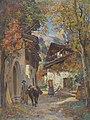 Fritz-Edouard Huguenin-Lassauguette Herbstliche Walliser Dorfpartie.jpg