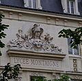 Fronton au dessus de l'entrée du Lycée Montaigne - Vu du Jardin du Luxembourg 2.JPG