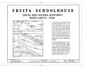 Fruita School House, State Route 24, Fruita, Wayne County, UT HABS UTAH,28-FRUITA,1- (sheet 1 of 3).png