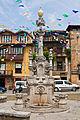 Fuente de los tres caños en la plaza Joaquín del Piélago de Comillas.jpg