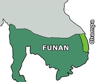 History of Cambodia - Map of Funan at around the 3rd century.