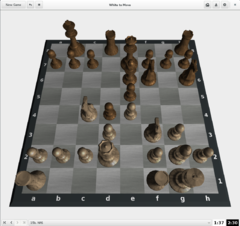 Chess in 3D view